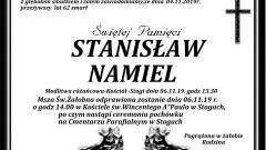 Zmarł Stanisław Namiel. Żył 62 lata.
