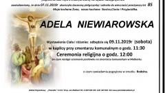 Zmarła Adela Niewiarowska. Żyła 85 lat.