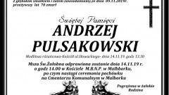 Zmarł Andrzej Pulsakowski. Żył 70 lat.