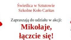 """Akcja """"Mikołaje łączcie się!"""" 2019 w Sztutowie"""