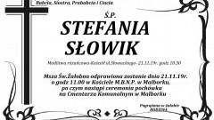 Zmarła Stefania Słowik. Żyła 91 lat.