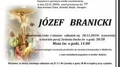 Zmarł Józef Branicki. Żył 77 lat.