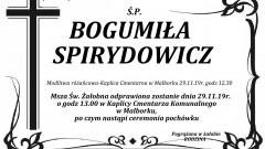 Zmarła Bogumiła Spirydowicz. Żyła 88 lat