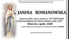 Zmarła Janina Romanowska. Żyła 86 lat.