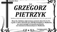Zmarł Grzegorz Pietrzyk. Żył 49 lat.