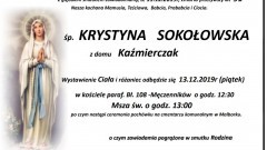 Zmarła Krystyna Sokołowska. Żyła 91 lat.