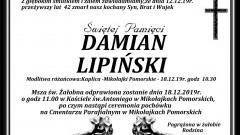 Zmarł Damian Lipiński. Żył 42 lata.