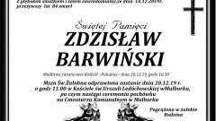 Zmarł Zdzisław Barwiński. Żył 84 lata.