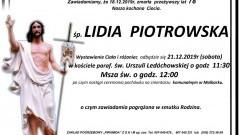 Zmarła Lidia Piotrowska. Żyła 78 lat.