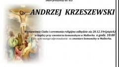 Zmarł Andrzej Krzeszewski. Żył 65 lat.
