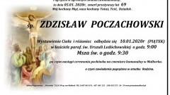 Zmarł Zdzisław Poczachowski. Żył 69 lat.