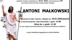 Zmarł Antoni Małkowski. Żył 72 lata.