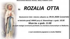 Zmarła Rozalia Otta. Żyła 89 lat.