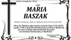 Zmarła Maria Baszak. Żyła 60 lat.
