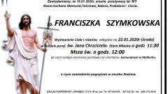 Zmarła Franciszka Szymkowska. Żyła 91 lat.