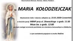 Zmarła Maria Kołodziejczak. Żyła 90 lat.