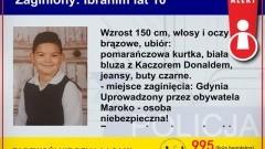 Child Alert – trwają poszukiwania uprowadzonego 10 – letniego Ibrahima.