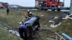 W wypadku na A1 kierowca poniósł śmierć na miejscu.