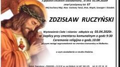 Zmarł Zdzisław Ruczyński. Żył 67 lat.