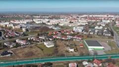 Nowa Wieś Malborska i Malbork z lotu ptaka - 5 kwietnia 2020