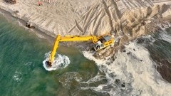 Co się dzieje na Przekopie? Budowa drogi wodnej łączącej Zalew Wiślany z Zatoką Gdańską - Kwiecień 2020