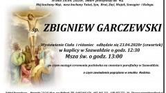 Zmarł Zbigniew Garczewski. Żył 42 lata.