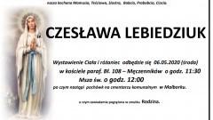 Zmarła Czesława Lebiedziuk. Żyła 87 lat.