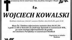 Zmarł Wojciech Kowalski. Żył 61 lat.