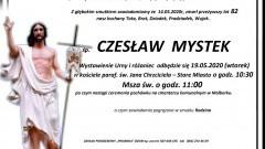 Zmarł Czesław Mystek. Żył 82 lata.