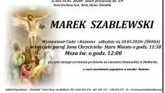 Zmarł Marek Szablewski. Żył 59 lat.