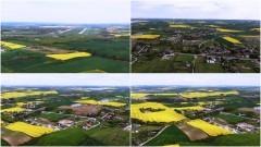 Pas startowy 22 Bazy Lotnictwa Taktycznego. Nowa Wieś Malborska z lotu ptaka - maj 2020