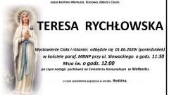 Zmarła Teresa Rychłowska. Żyła 93 lata.
