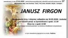 Zmarł Janusz Firgon. Żył 57 lat.