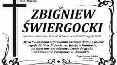 Zmarł Zbigniew Świergocki. Żył 67 lat.