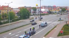 Policyjny pościg ulicami Malborka.