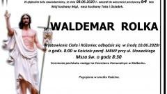 Zmarł Waldemar Rolka. Żył 64 lata.