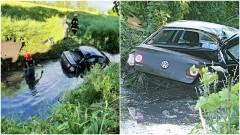 Samochodem wpadł do rowu i uciekł.