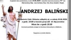 Zmarł Andrzej Baliński. Żył 77 lat.