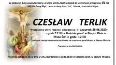Zmarł Czesław Terlik. Żył 81 lat.