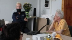 """Działania """"Bezpieczny Senior"""" w malborskim Domu Dziennego Pobytu."""