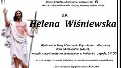 Zmarła Helena Wiśniewska. Żyła 61 lat.