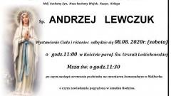 Zmarł Andrzej Lewczuk. Żył 62 lata.