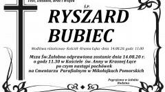 Zmarł Ryszard Bubiec. Żył 60 lat.