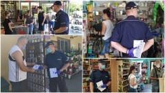 Wspólne działania nowodworskiej policji i sanepidu.