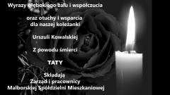 Zarząd i pracownicy Malborskiej Mieszkaniowej składają kondolencje