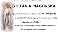 Zmarła Stefania Nagórska. Żyła 88 lat.
