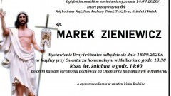 Zmarł Marek Zieniewicz. Żył 64 lata.