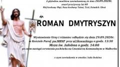 Zmarł Roman Dmytryszyn. Żył 60 lat.