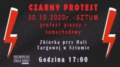 Sztum. W piątek kolejny CZARNY PROTEST.