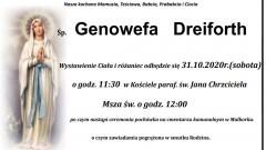 Zmarła Genowefa Dreiforth. Żyła 83 lata.